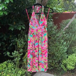 Milly Groovy Halter Dress
